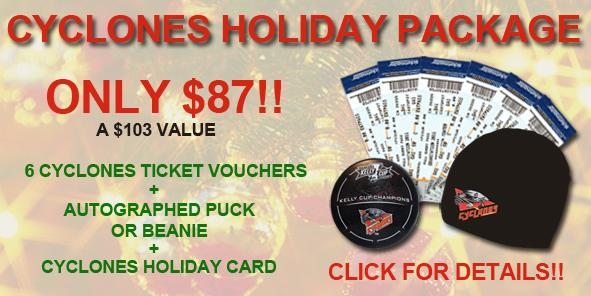 Cyclones Holiday Package On Sale NOW!!