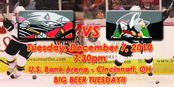 Cyclones Game Preview: Cincinnati vs. Bakersfield - 12/7/10