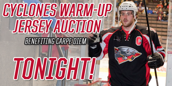 Cyclones Warm-Up Jersey Auction TONIGHT