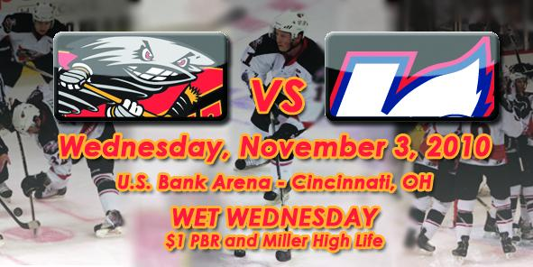 Cyclones Game Previews:  Cincinnati vs. Kalamazoo - 11/3/10