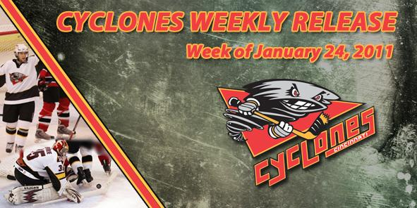 Cyclones Weekly Release: January 24, 2011