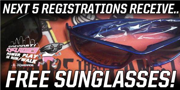 Next 5 Registrations receive FREE SUNGLASSES!