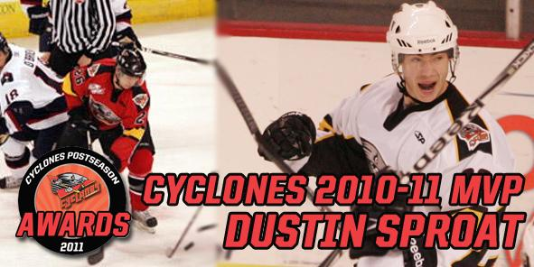 Cyclones 2010-11 Most Valuable Player:  Dustin Sproat