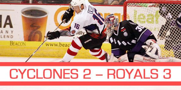 Royals Squeak Past Cyclones, 3-2