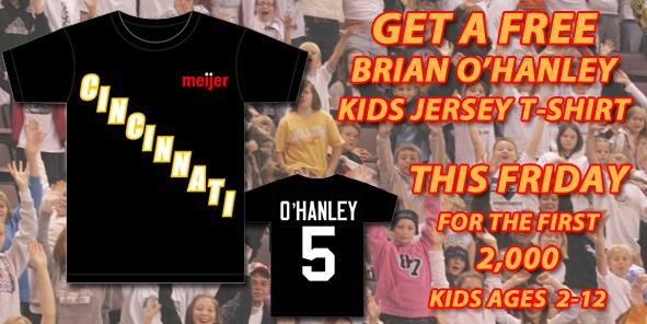 Attention Kids:  Get a FREE Brian O'Hanley Kids Jersey T-Shirt THIS FRIDAY!!