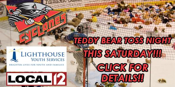 Cyclones Partner with Local 12, Lighthouse Youth Services for 2010 Teddy Bear Toss