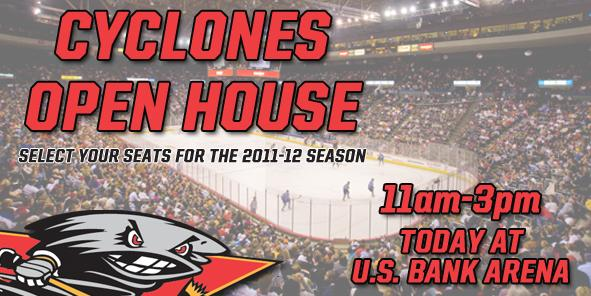 Cyclones Open House TODAY at U.S. Bank Arena!!