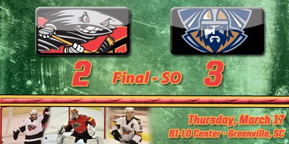 Cyclones Earn Point But Fall to Greenville in Shootout, 3-2