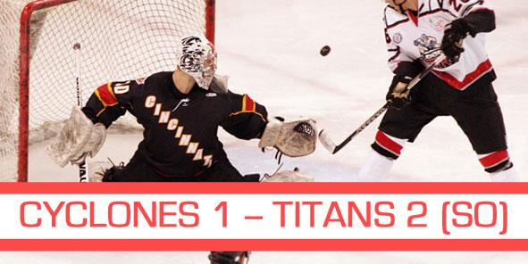 Cyclones Clinch Kelly Cup Playoff Spot Despite Falling to Titans 2-1 in Shootout