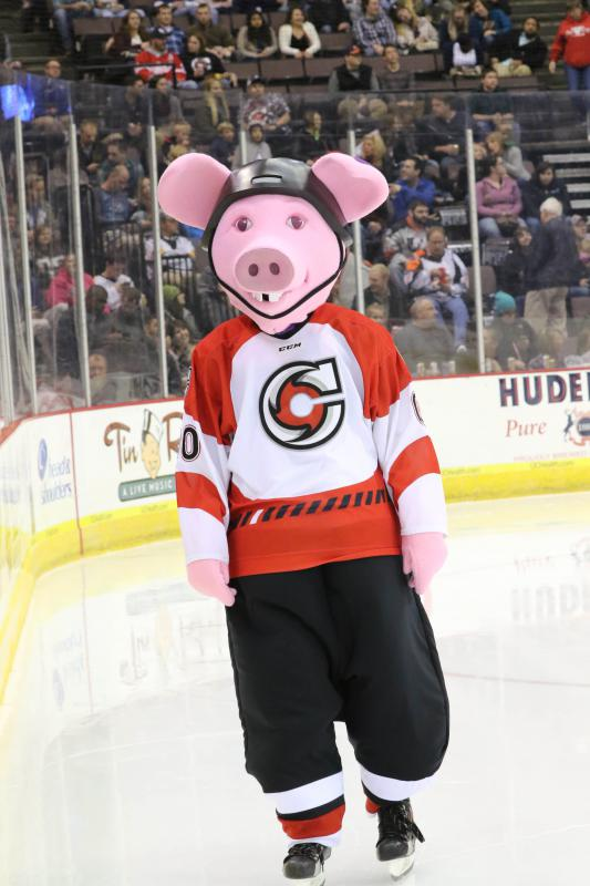 The newest Cincinnati Cyclones team ambassador, Puckchop.